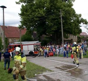 Feuerwehr Cossebaude im Einsatz in Oberwartha