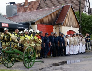 Historischer Feuerwehreinsatz in Oberwartha