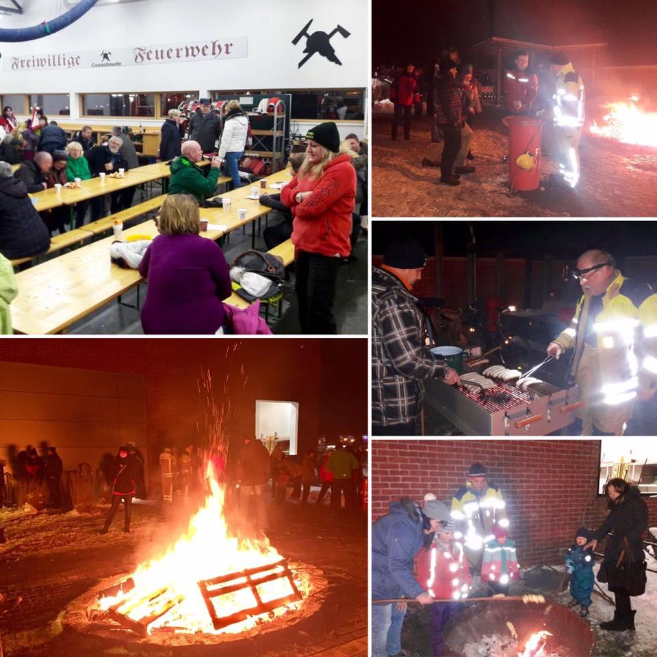 Neujahrsfeuer 2017 - Gerätehaus Feuerwehr Cossebaude