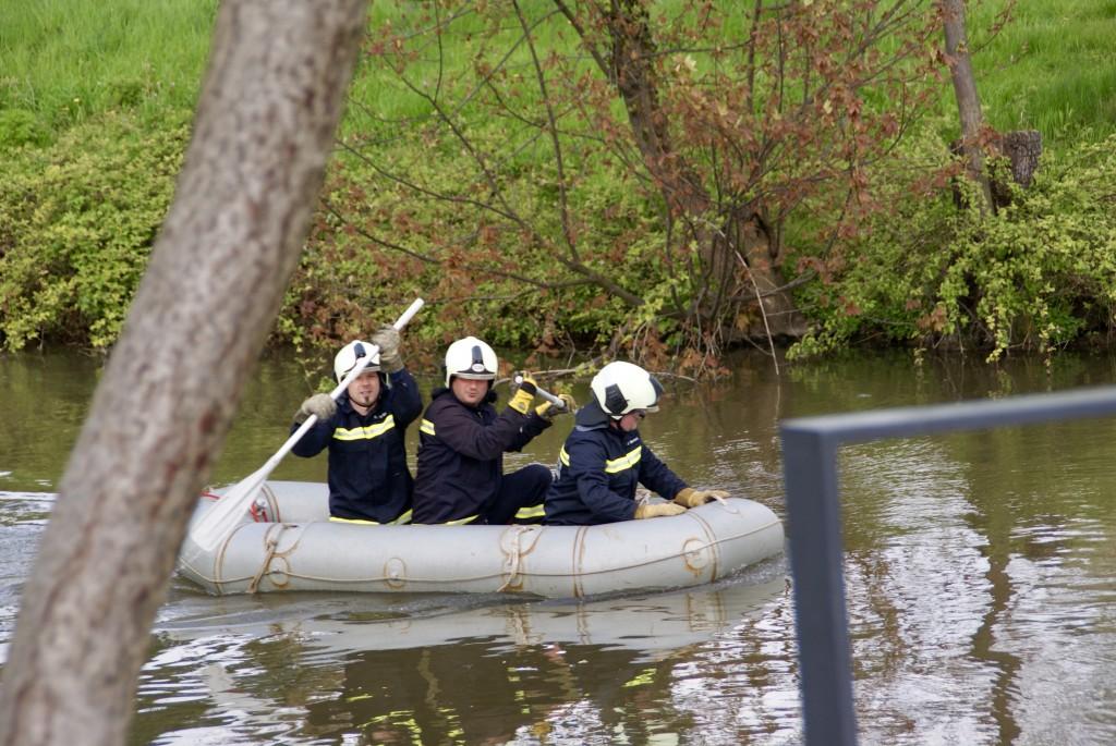 Überfahrt auf dem Teich