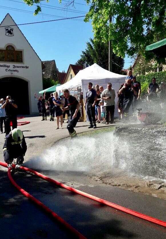 "Wasserangriff ""nass"" in Ockerwitz"