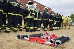 Mannschaften zum Feuerwehrwettkampf