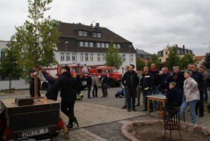 Vogelschießen am Gerätehaus der Feuerwehr Cossebaude