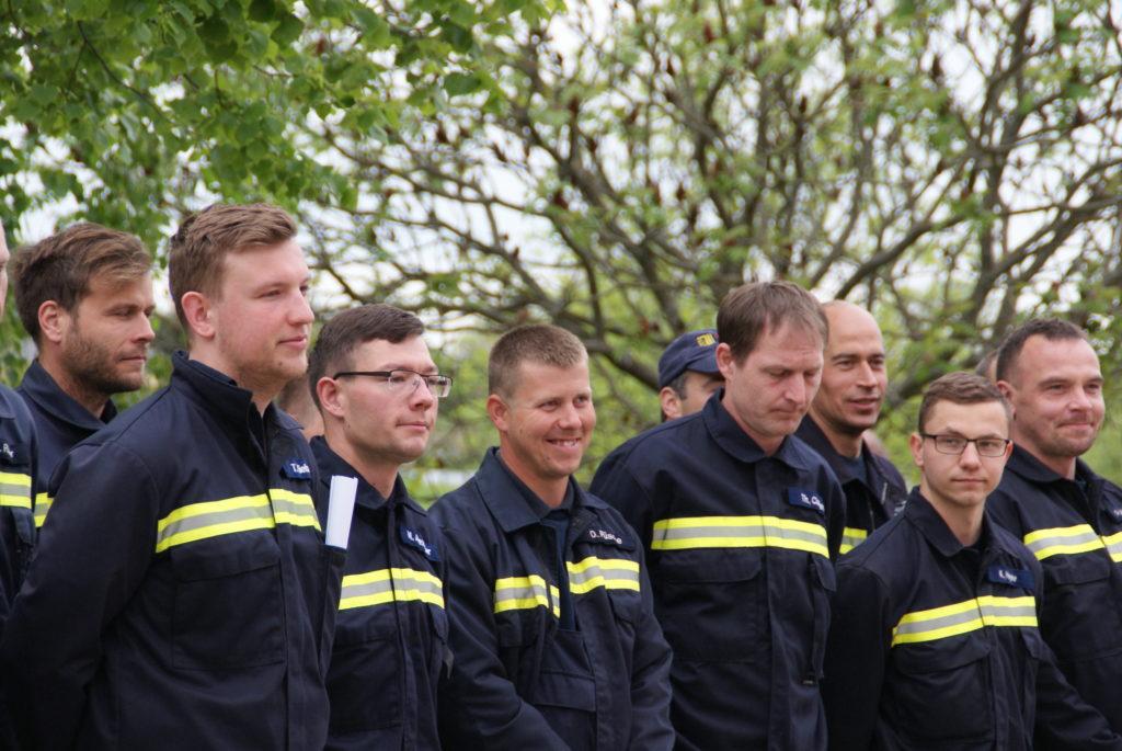 Mannschaft Cossebaude zum Wettkampf in Gompitz