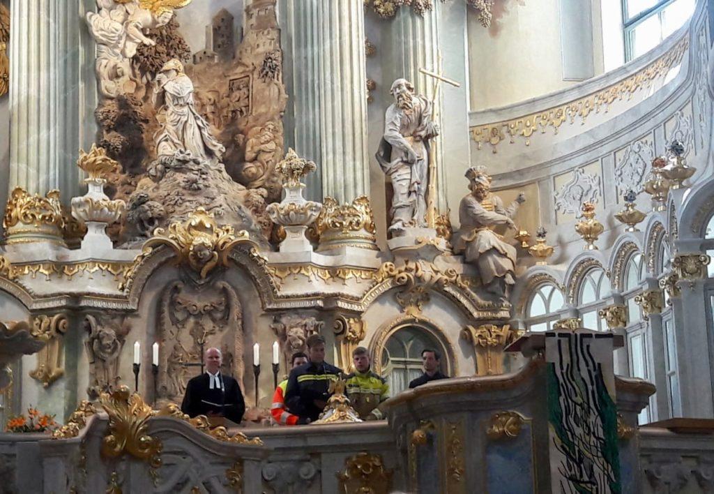 Kameraden auf der Kanzel in der Frauenkirche