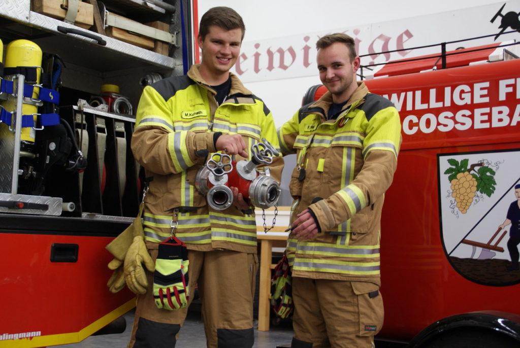 neue Kameraden in der Feuerwehr Cossebaude